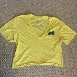 Umich cropped yellow shirt